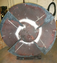 Impeller head built up to required size